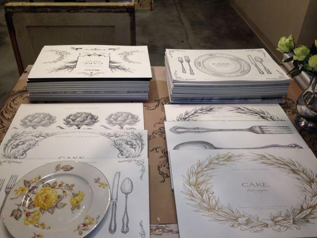 Cake kitchen paper blueprint placemats kitchen designs cake kitchen papers placemats designs malvernweather Images