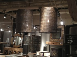 Classic Home Wicker drum shades