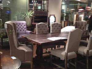 Classic Home table and tufted chairs