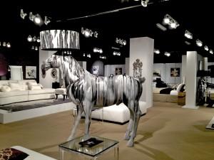 Priscilla Presley Home giant horse