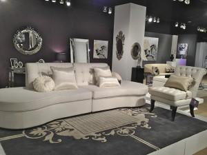 Priscilla Presley Home white sectional sofa